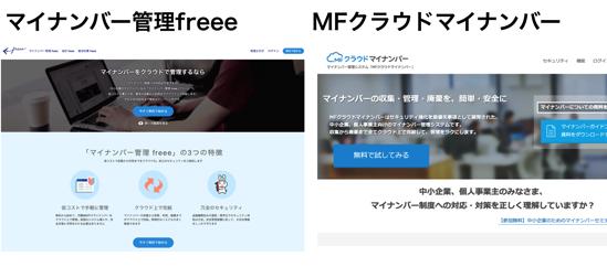 クラウドでマイナンバーを集める方法。マイナンバー管理freee・MFクラウドマイナンバーの比較。