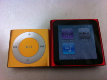 ・iPod shuffle、iPod nanoの比較