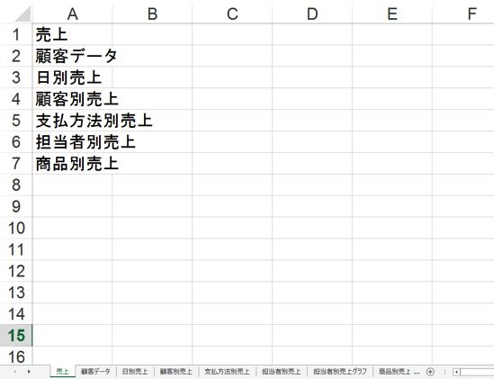 すべてのシートの名前をセルに入力し、一覧を作るマクロ【Excelマクロ入門】