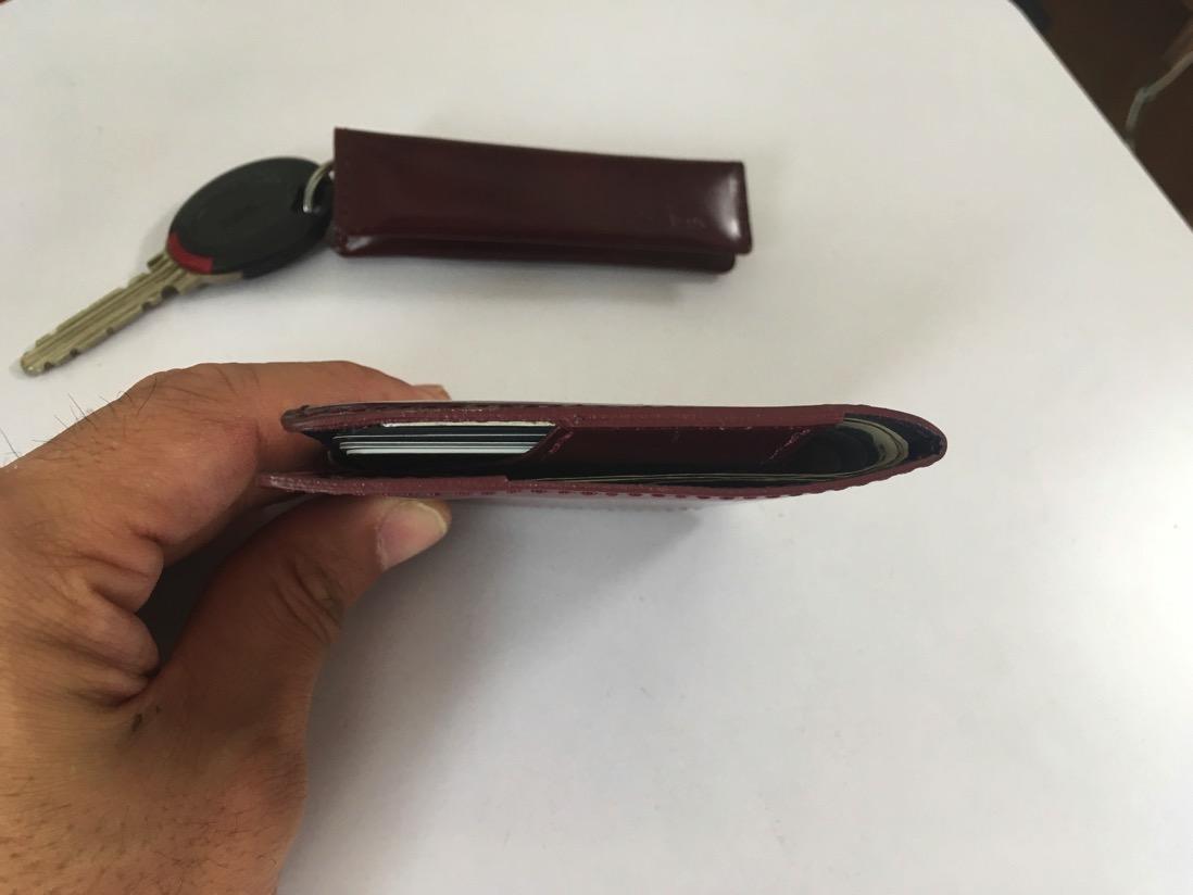 [薄い財布]と[薄いマネークリップ]&[小さい小銭入れ]比較。abrAsus (アブラサス)