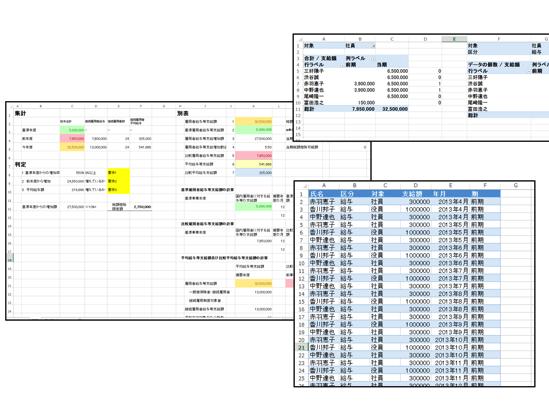 所得拡大促進税制の計算をExcelピボットテーブルで効率化
