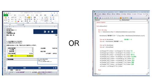 手作業、Excelスキル、マクロを比較してみました。