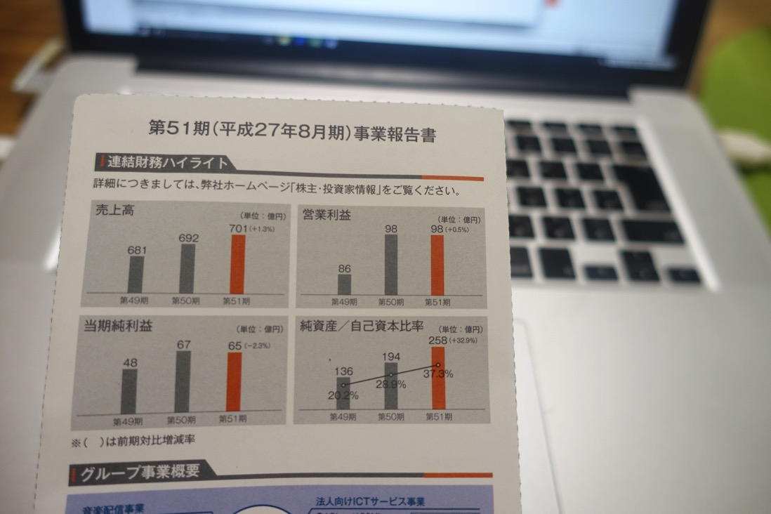 Excelのグラフを使った決算・財務報告資料の作り方。株主向け資料を参考に作る。