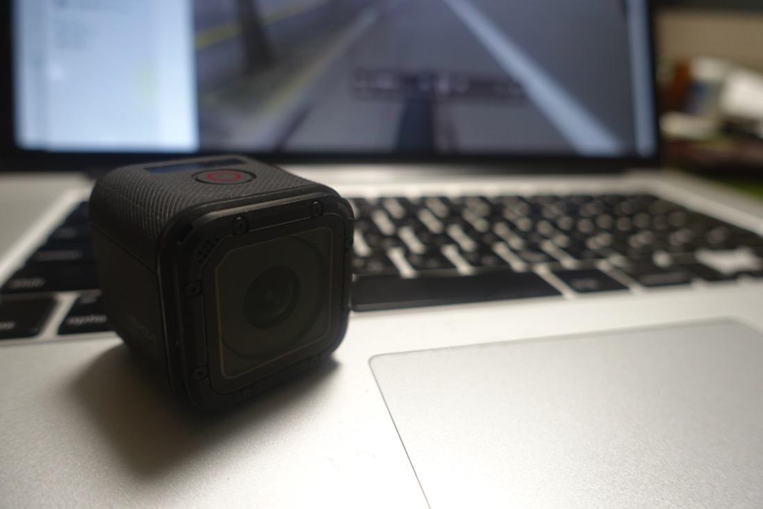 GoPro HERO Session。動画のスクリーンショットを写真として活用。