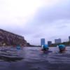 大阪城の緑色の堀(濠)を泳ぐ!大阪城トライアスロン参戦レポート