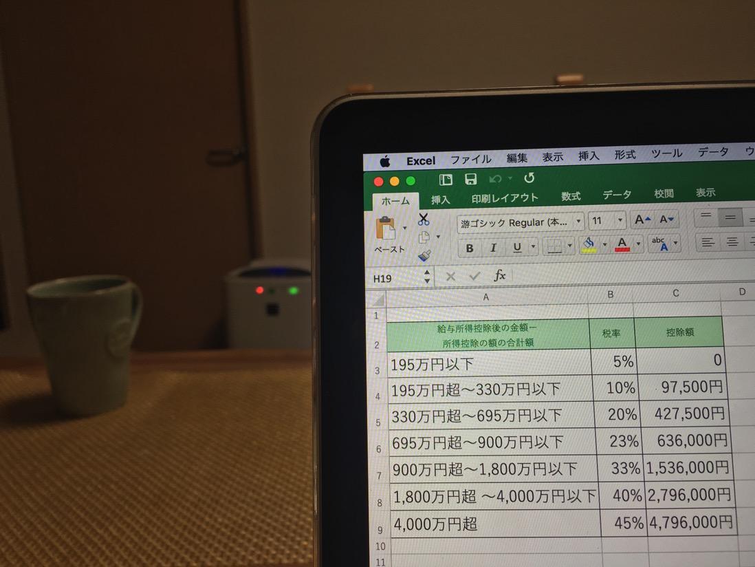 Excelで所得税を計算するには、IF関数よりもVLOOKUP関数のTRUE