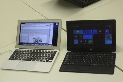同じような値段・同じような大きさ。徹底比較!MacBookAirとSurfacePro
