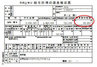 源泉徴収票で見る今年支払った所得税