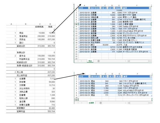Excel 総勘定元帳