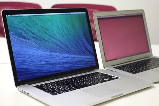 Retina復活!やはりきれいで速い!MacBookPro Retina 15とMacBookAir 13の比較