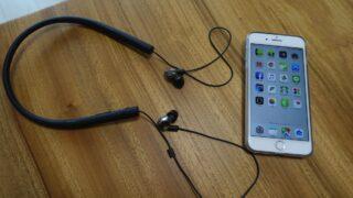Sony MUC-M2BT1。Bluetooth対応ワイヤレスレシーバーで、Shureのイヤホンをワイヤレスに。